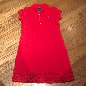 EUC Ralph Lauren red shirt dress.  Size 8/10